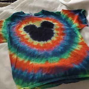 Mickey Mouse Tye Dyed Tee Shirt